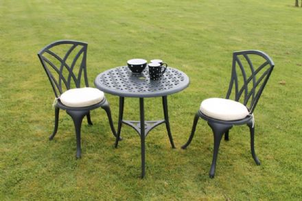Culcita Cathedral 3 Piece Bistro Set - Black